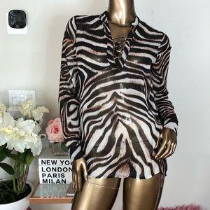 Tigers print long sleeve shirts